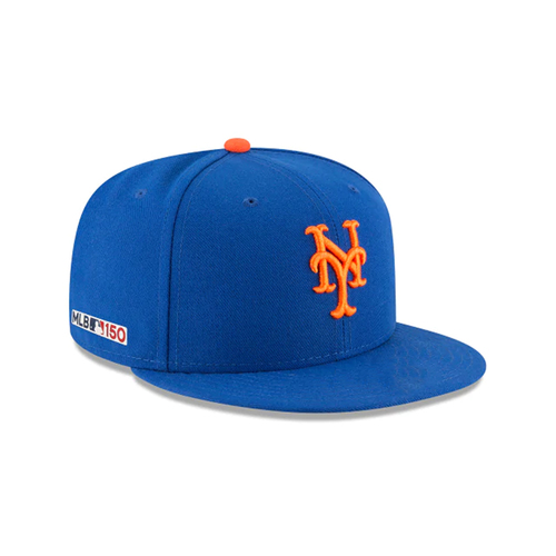 Photo of Robinson Cano #24 - Game-Used Blue Hat - Mets Debut; 2-4, HR (1), 2 RBI's - Mets vs. Nationals - 3/28/19