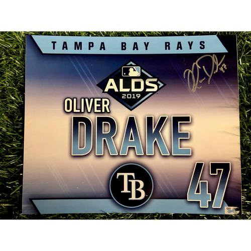 Photo of Game Used ALDS Autographed Locker Tag: Oliver Drake - October 7, 2019 v HOU