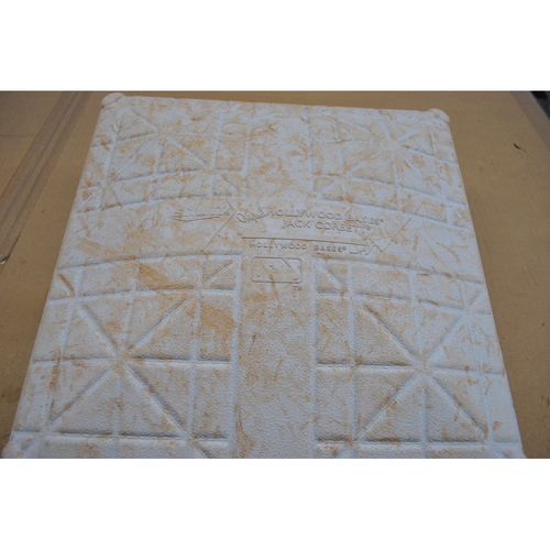 Photo of Game-Used 2nd Base - 2020 NLCS - Atlanta Braves vs. Los Angeles Dodgers - Game 7 - Used Innings 1-9