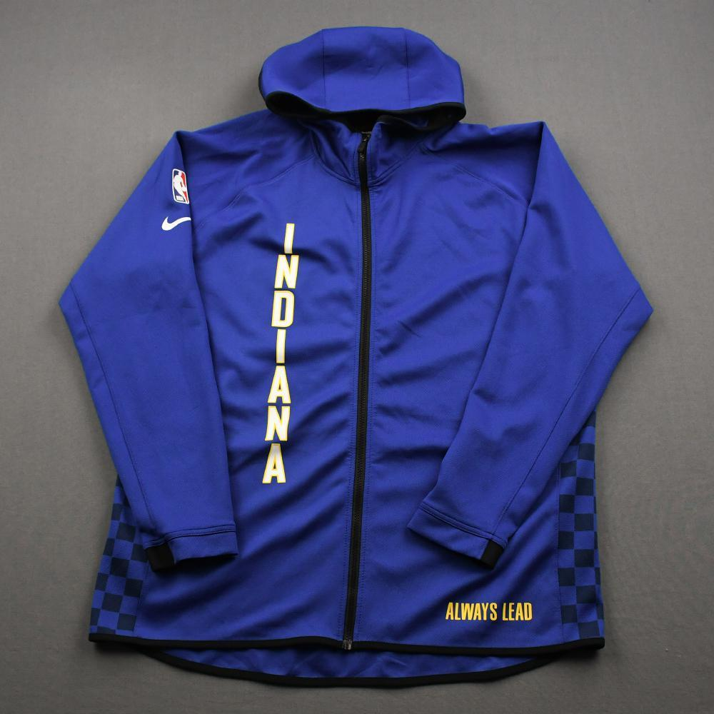 Aaron Holiday - Indiana Pacers - Game-Issued Earned Edition Game Theater Jacket  - 2019-20 NBA Season