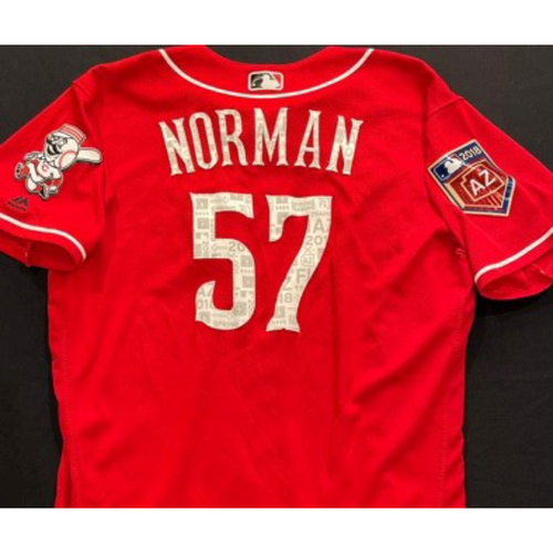 NORMAN -- Authentic Reds Jersey -- $1 Jersey Auction -- $5 Shipping -- Size 46 (Not MLB Authenticated)