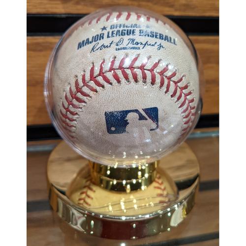 Photo of July 27, 2019 Red Sox vs. Yankees Game Used Baseball