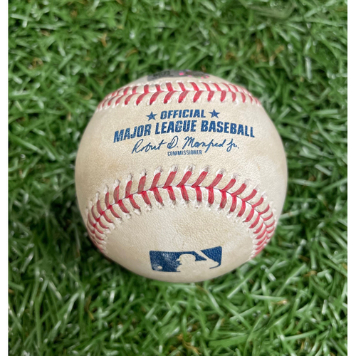 Photo of Spring Training Game Used Baseball: Josh Fleming strikes out Franchy Cordero - Top 6 - March 26, 2021 v BOS