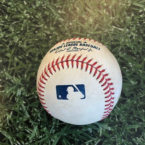 Photo of Game-Used Baseball STL@MIL 09/14/20 (Game 2 of Doubleheader) - Daniel Ponce de Leon - Daniel Vogelbach: Single
