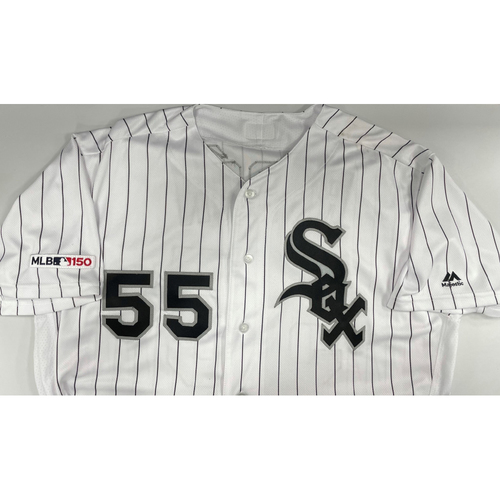 Photo of Carlos Rodon Autographed White Pinstripe Jersey