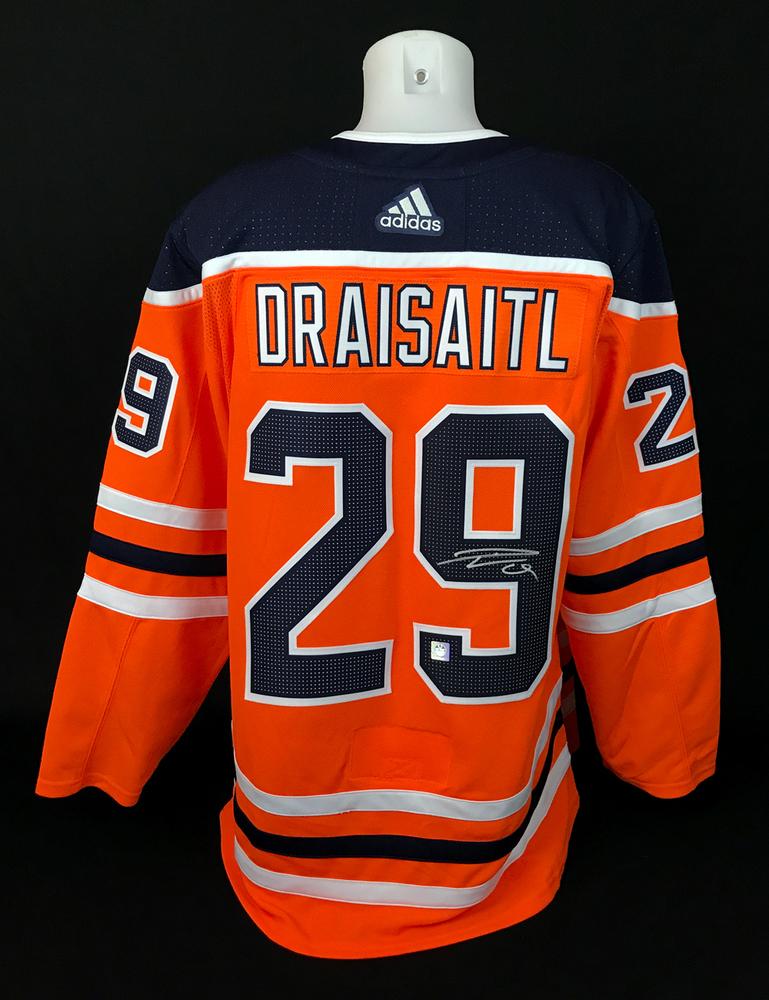 Leon Draisaitl #29 - Autographed Edmonton Oilers Orange Adidas Retail Pro Authentic Jersey