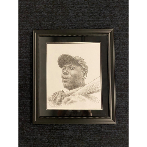 Photo of Hank Aaron Artwork created by TikTok Artist, Jayce Hall