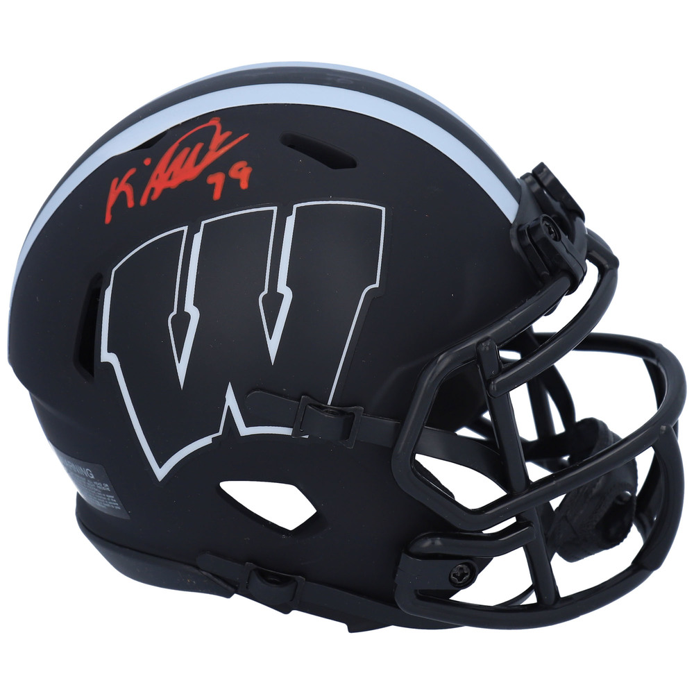 K'Andre Miller New York Rangers Autographed Wisconsin Badgers Eclipse Speed Mini Helmet - NHL Auctions Exclusive