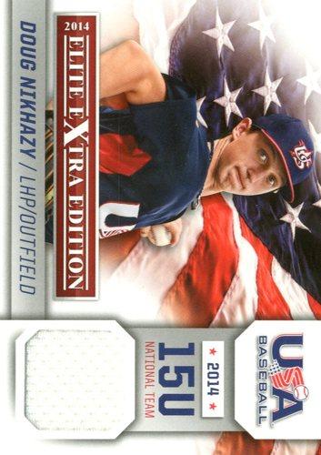 Photo of 2014 Elite Extra Edition USA Baseball 15U Game Jerseys #6 Doug Nikhazy