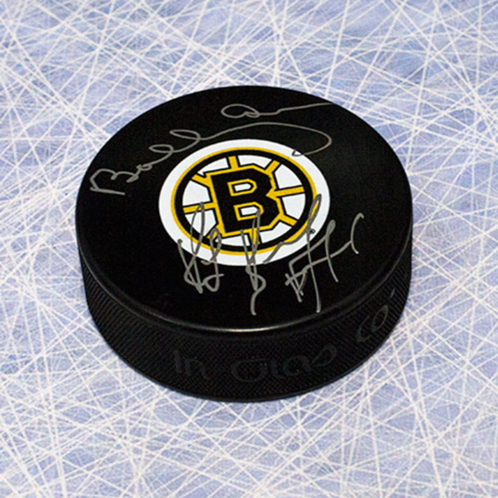 Bobby Orr & Ray Bourque Boston Bruins Autographed Defence Legends Puck: GNR COA