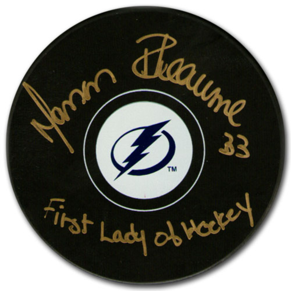 Manon Rheaume Autographed Tampa Bay Lightning Puck w/