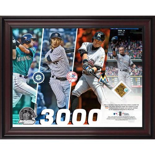 Ichiro Suzuki 3,000 MLB Hits Dirt Frame
