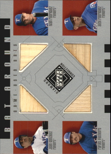 Photo of 2002 Upper Deck Diamond Connection Bat Around Quads  J Gonzalez/I Rodriguez/Palmeiro/A Rodriguez