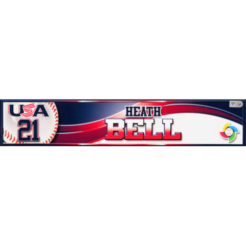 Photo of 2013 WBC: USA Game-Used Locker Name Plate - #21 Heath Bell