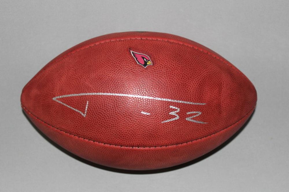 Cardinals - Tyrann Mathieu signed authentic football w/  Cardinals logo