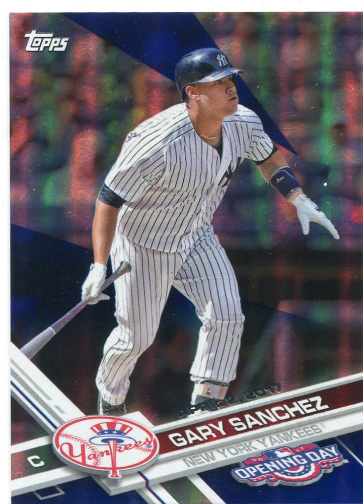 2017 Topps Opening Day Blue Foil #170 Gary Sanchez