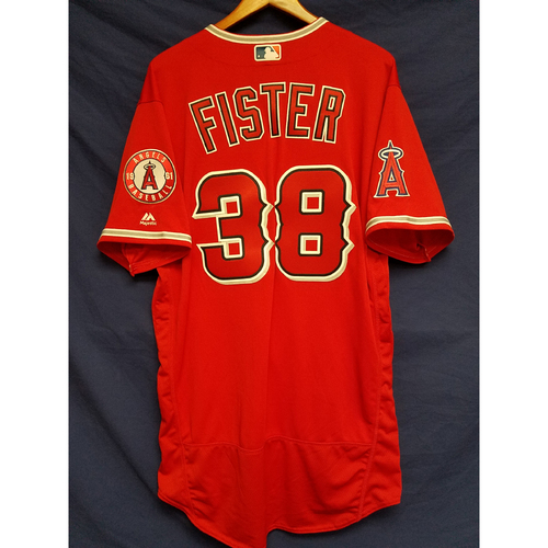 Doug Fister Team-Issued Alternate Red Jersey