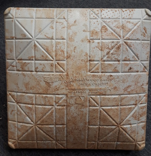 Photo of Authenticated Game Used Base - 1st Base for Innings 1 to 3 vs Washington Nationals (June 15 and 16, 2018; In place for Max Scherzer start)