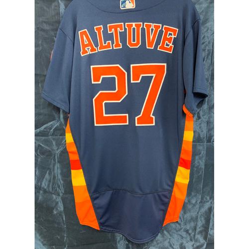 Photo of 2018 Team-Issued Navy Alt Jose Altuve Jersey - Size 40