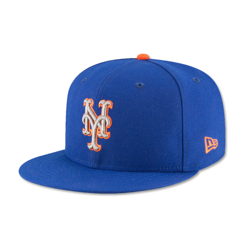 Photo of Dominic Smith #22 - Game Used Blue Alt. Road Hat - 1-3, HR (9), RBI, R, BB - Mets vs. Phillies - 9/29/17