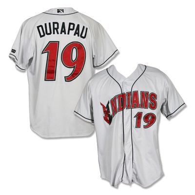 #19 Montana Durapau Game Worn Home White Jersey