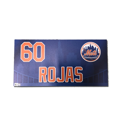 Photo of Luis Rojas #60 - Game Used Locker Nameplate - Mets vs. Nationals - 4/4/2019