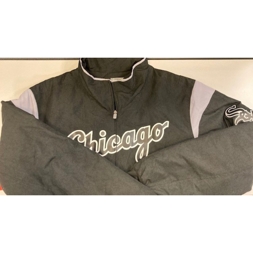 Photo of White Sox Black Clubhouse Jacket  - Authenticated by MLB - Choose Your Size!