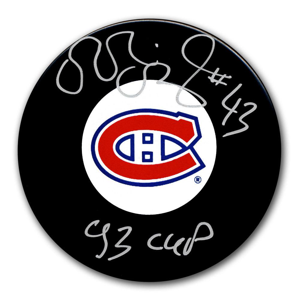 Patrice Brisebois Montreal Canadiens 1993 Cup Autographed Puck