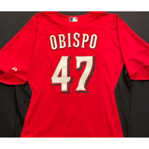 Photo of OBISPO -- Authentic Reds Jersey -- $1 Jersey Auction -- $5 Shipping -- Size 48 (Not MLB Authenticated)
