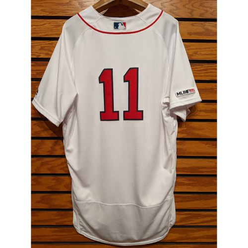 Photo of Rafael Devers #11 Game Used Home White Jersey