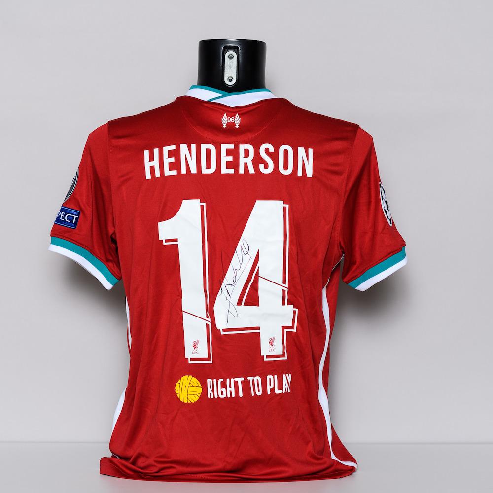20/21 Liverpool FC Jersey - signed by Jordan Henderson