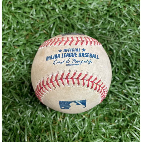 Photo of Spring Training Game Used Baseball: Freddie Freeman double off Ryan Yarbrough - Top 4 - March 28, 2021 v ATL