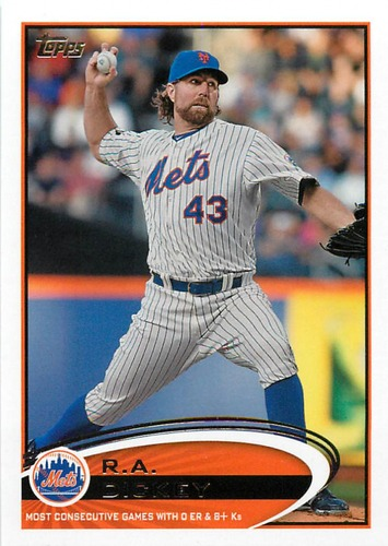 Photo of 2012 Topps Update #US141 R.A. Dickey
