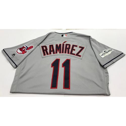 Photo of Jose Ramirez Team-Issued 2017 Road Postseason Jersey