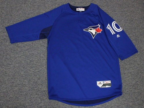 Photo of Authenticated Team Issued Batting Practice Jersey - #10 Brandon Drury. Size M.
