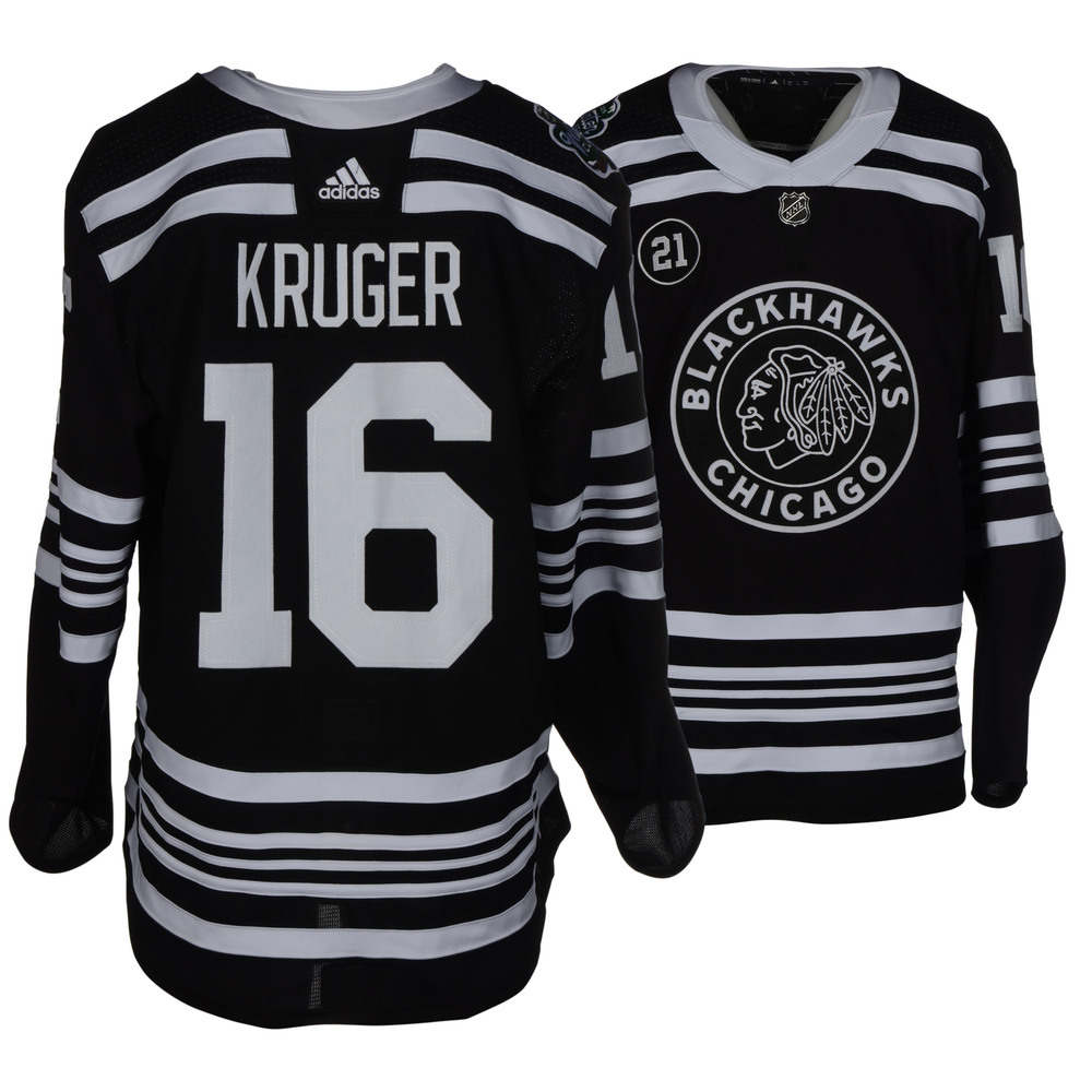 Marcus Kruger Chicago Blackhawks Game-Worn 2019 NHL Winter Classic Jersey