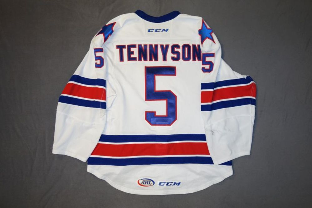 Matt Tennyson Game-Worn Rochester Americans White Jersey