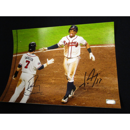Photo of Dansby Swanson and Johan Camargo Autographed Photo