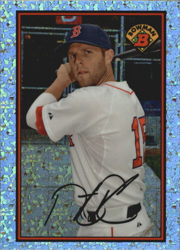 Photo of 2014 Bowman '89 Bowman is Back Silver Diamond Refractors #89BIBDP Dustin Pedroia BP