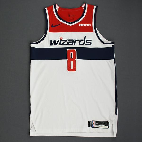 Image of Rui Hachimura - Washington Wizards - Kia NBA Tip-Off 2019 - Game-Worn Association Edition Jersey - NBA Debut (9th Overall Draft Pick) - Double-Double