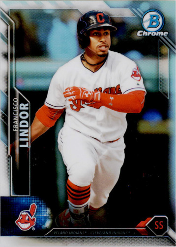 Photo of 2016 Bowman Chrome Refractors #32 Francisco Lindor