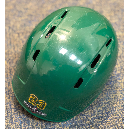 Game-Used Helmet: Jurickson Profar RH 2019 Kelly Green Helmet