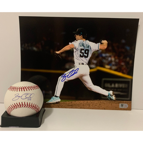 Photo of Zac Gallen Autographed 8x10 and Ball