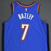 Darius Bazley - Oklahoma City Thunder - Game-Worn Icon Edition Rookie Debut Jersey - Opening Night 2019-20 Season
