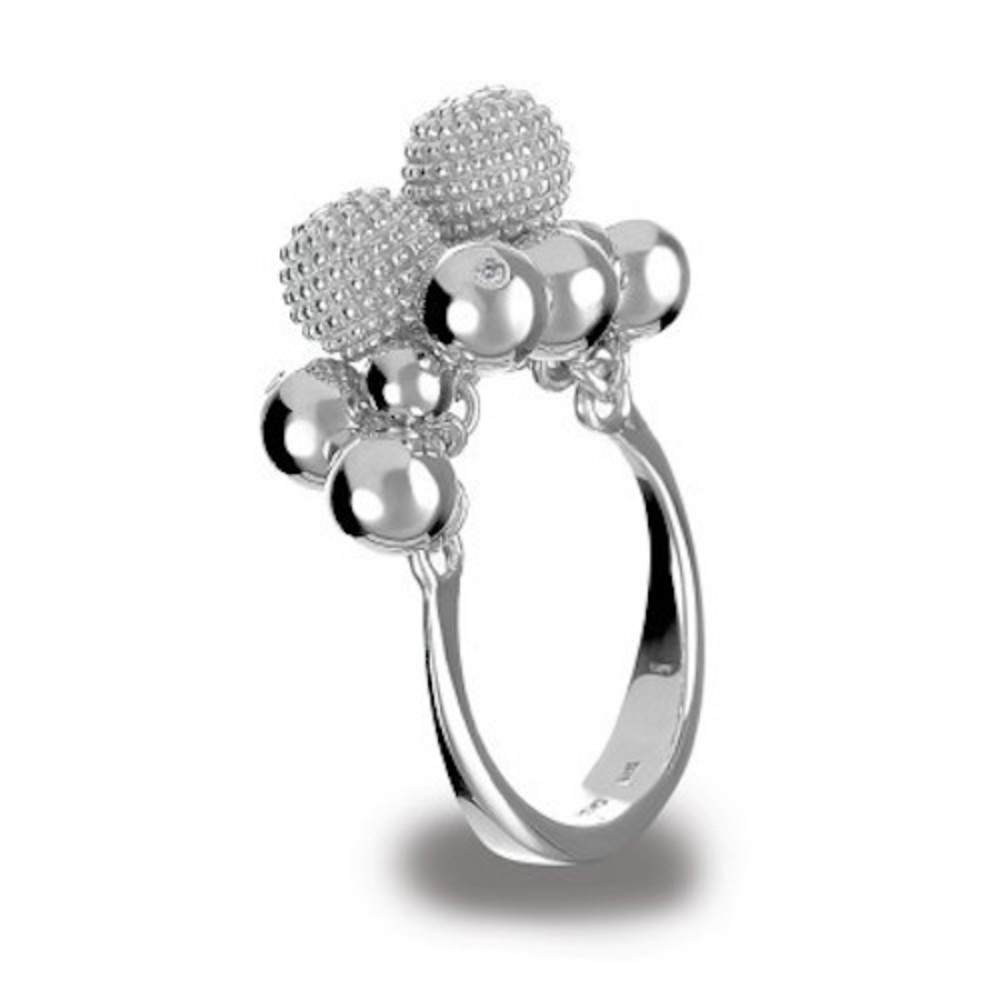Photo of Hot Diamonds Ula Cluster Sterling Silver & Diamond Ring