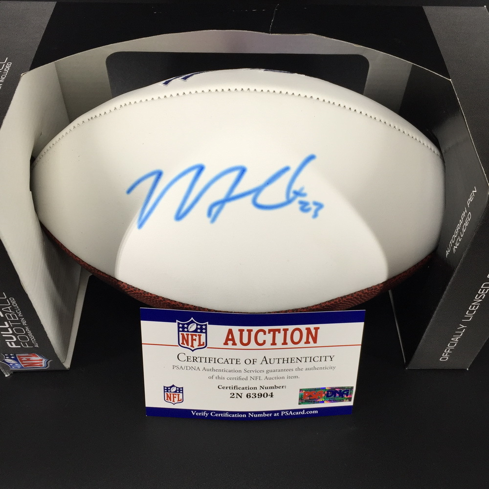 Bills - Micah Hyde Signed Panel Ball W/ Bills Logo