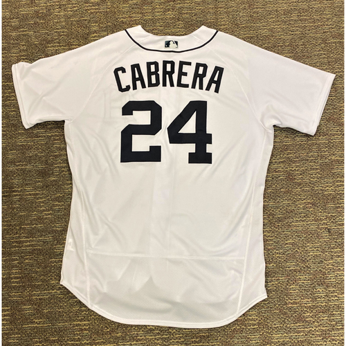 Photo of Miguel Cabrera #24 Detroit Tigers Game-Used Home Jersey - 483rd Career Home Run (MLB AUTHENTICATED)
