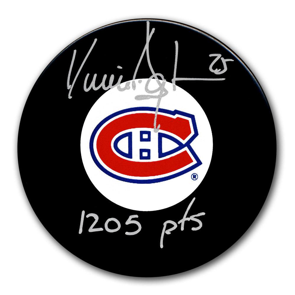 Vincent Damphousse Montreal Canadiens 1205 Points Autographed Puck