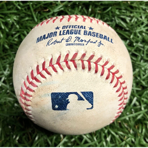 Photo of Game Used Baseball: Jose Alvarado pitched strike to Nolan Arenado - 100.3 MPH Sinker - April 1, 2019 v COL