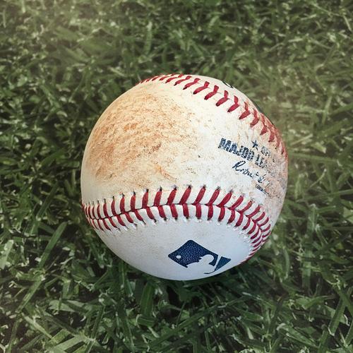 Photo of Game-Used Baseball PIT@MIL 08/31/20 - Drew Rasmussen - Erik Gonzalez (Strikeout) & Adam Frazier (RBI Single)